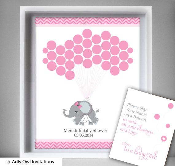 elephant guest book alternative for boy baby shower with girl elephant pink grey chevronwall decor welcome sign ao46bs27