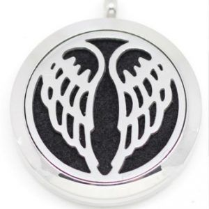 angel-wings Aromatherapy Diffuser pendant necklace for Essential Oils