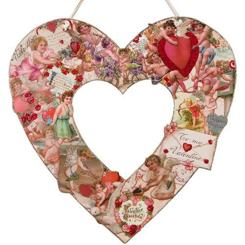 Vintage Valentine Wreath  $40.00 http://www.fancyflours.com/product/Vintage-Valentine-Wreath/valentines-party-theme