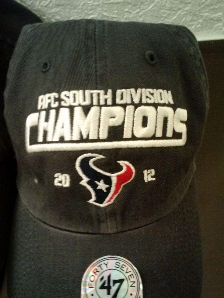 ... NFL Houston Texans AFC South Division Champions 2012 baseball cap Adj  ... 04b98facb