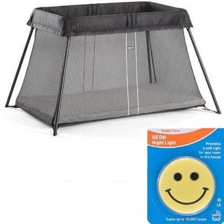 Baby Bjorn - Travel Crib Light with Night Light - Black Mesh