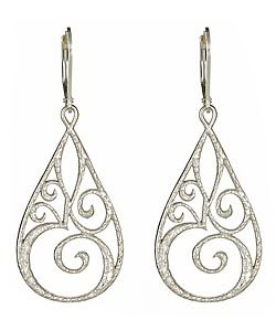 Sophia & Chloe Silver Om Earrings