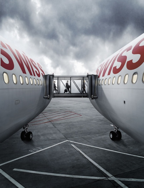"""""""Connecting Flights""""  swiss international airlines"""