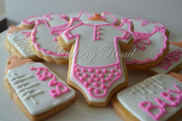 Pink Baby Shower Biscuits