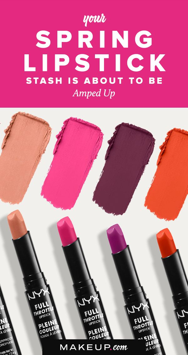 NYX cosmetics makes some of the trendiest lipsticks around, and their latest collection of petty lippies, the Full Throttle Lipstick, is no different. We'll tell you why the NYX Full Throttle lipstick collection is the perfect makeup product to add to your beauty routine this spring.