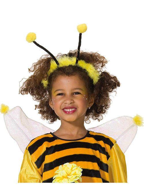 Biene Haarreif für Kinder gelb-schwarz , günstige Faschings  Accessoires & Zub…
