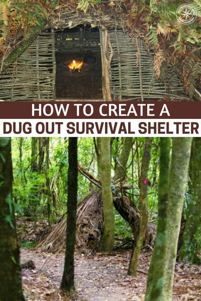 Shtf Shelter: How To Create A Dug Out Survival Shelter