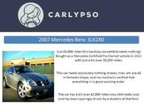 Sell My Car Aside From Craigslist and Carlypso