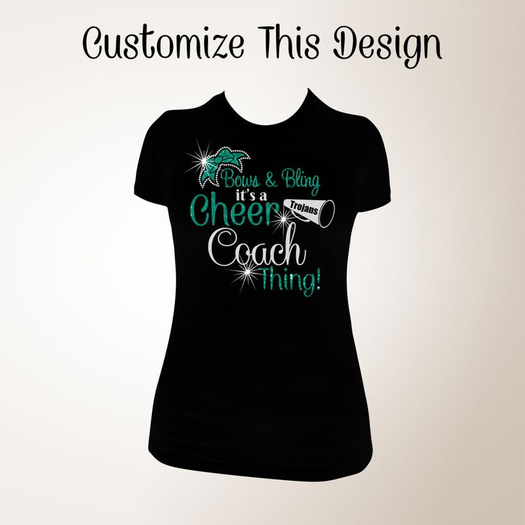 bows and bling its a cheer coach thing cheer coach bling shirts bling cheer - Cheer Shirt Design Ideas