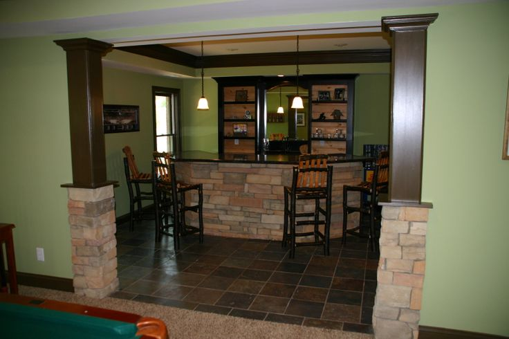 basement bar with stone basement pinterest basement bars basements and stones. Black Bedroom Furniture Sets. Home Design Ideas