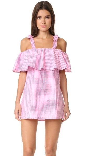 MLM LABEL Платье с оборками Tobin