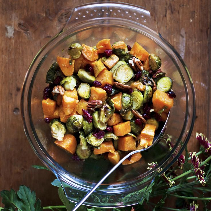 This Brussels Sprouts and Sweet Potato Side Dish Will Make You Want to Eat Your Greens