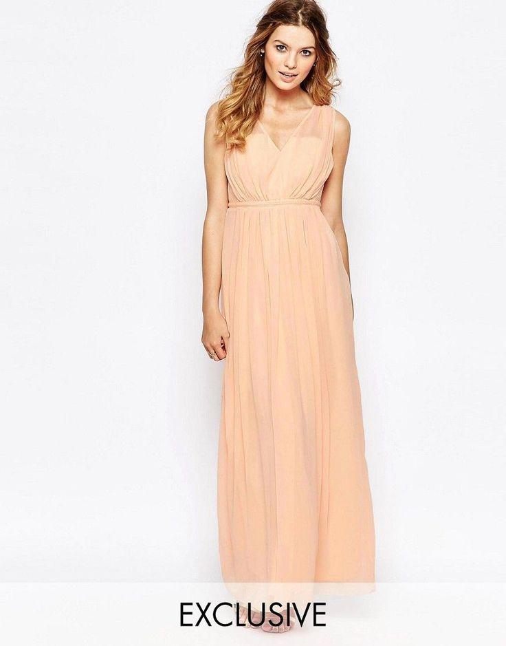 Vila cinched waist maxi dress bridesmaid dresses for Cinched waist wedding dress
