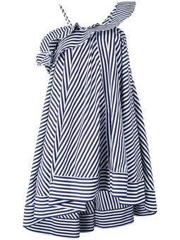 스트라이프 플레어 드레스