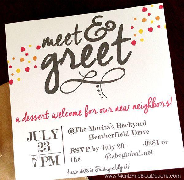 Invitation Wording For Meet And Greet Neighborhood Party Invitations Printable Invitations Free Printable Invitations