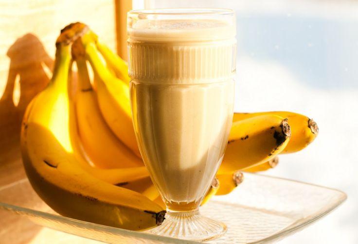 Smoothie de Banana para o café da manhã.