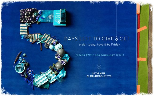 Anthropologie coupon deal: Countdown in Color: it's true blue.on Dailybag.com