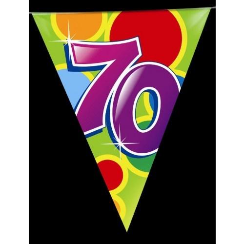 Vlaggenlijn leeftijd 70 jaar