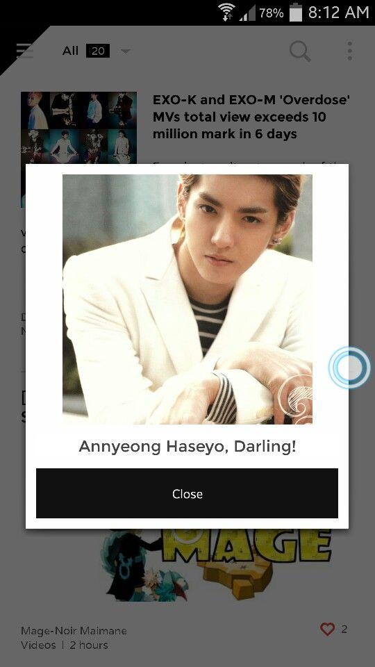 When I open EXO app on my phone, HAHAHA. #Kris
