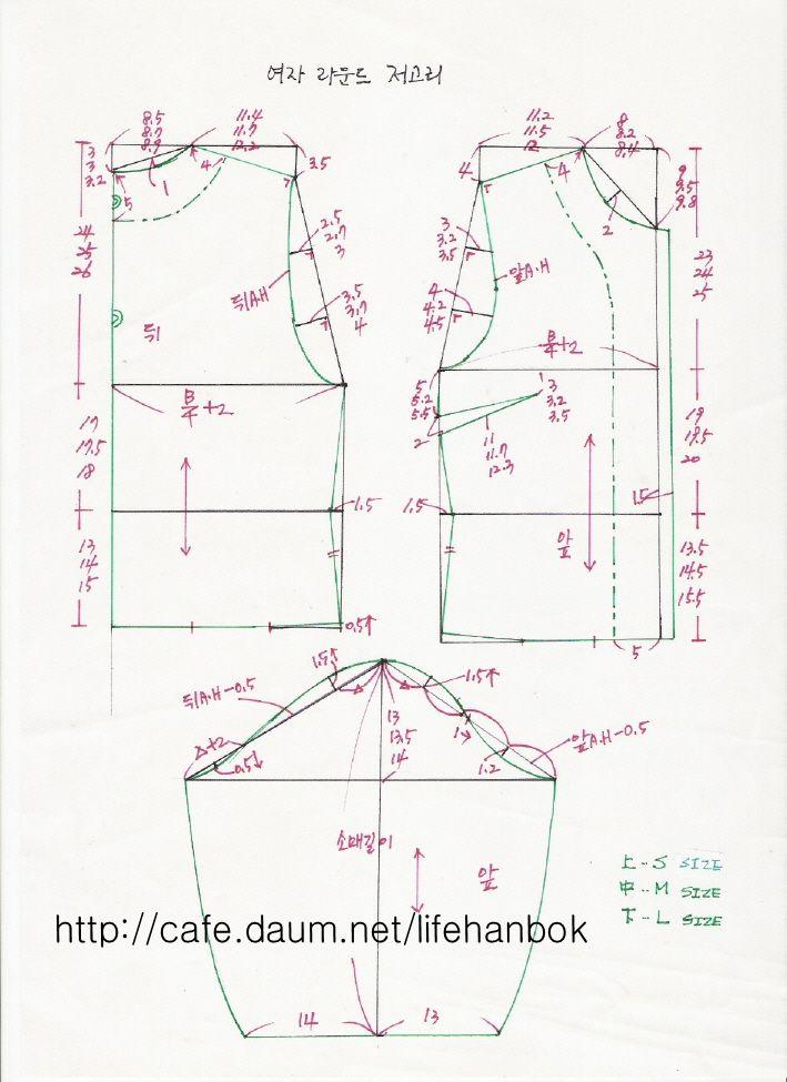 여자 라운드 저고리 - 여자생활한복만들기 - 맨드리생활한복