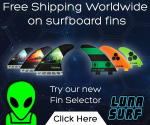 Surfboard Fins -FREE DELIVERY WORLDWIDE - Lunasurf fin selector find your perfect fins fast now - Futures, FCS, Thruster, Quad, Twin