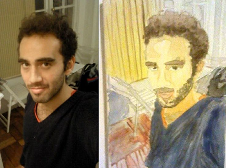 """""""watercolor portrait"""" by Moma"""