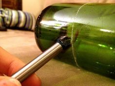 How to Cut Wine Bottles - using a drill bit instead of glass cutter