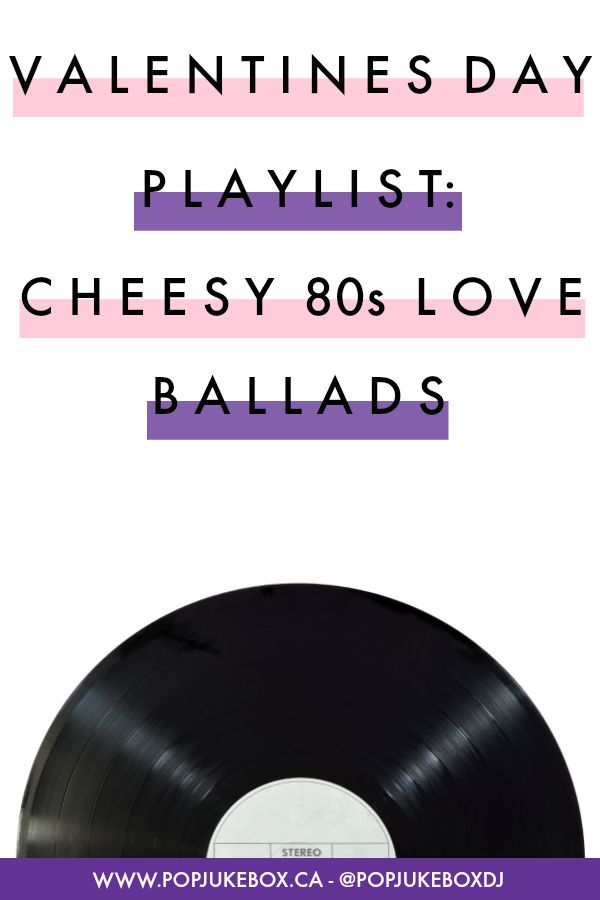 Cheesy 80s ballads
