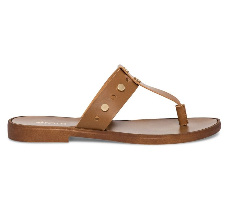 Tong cuir camel - Nu-Pieds / Tongs - Chaussures femme