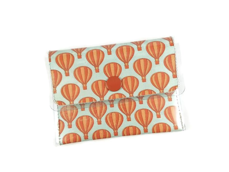 Heißluftballon Brieftasche für Frauen, Kreditkartenetui, minimalistische Damenbrieftasche, niedliche kleine Brieftasche