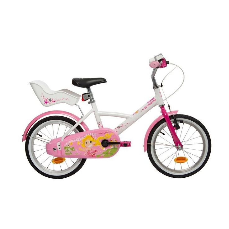 "16"" Liloo Princess Kids Bike B'TWIN - All Bikes Cycling - On sale at Decathlon.co.uk"