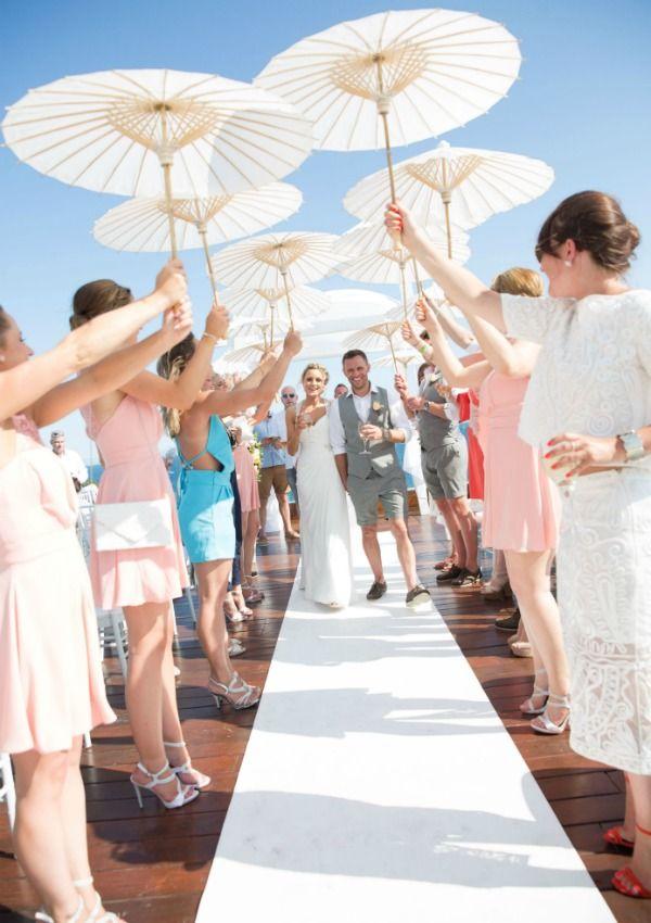 Ibiza Wedding & Event Photographer Hotel Aguas de Ibiza parasol guard of honour Ibiza Wedding, Beach Wedding Photos, Summer Wedding, Dream Wedding, Beach Wedding Decorations, Beach Wedding Favors, Wedding Ceremony, Classic Wedding Gowns, Wedding Dresses