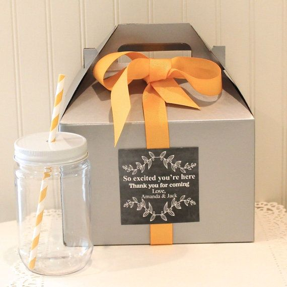 Favor Box 6 Out of Town Guest Box Welcome Box by ThePartyFairy