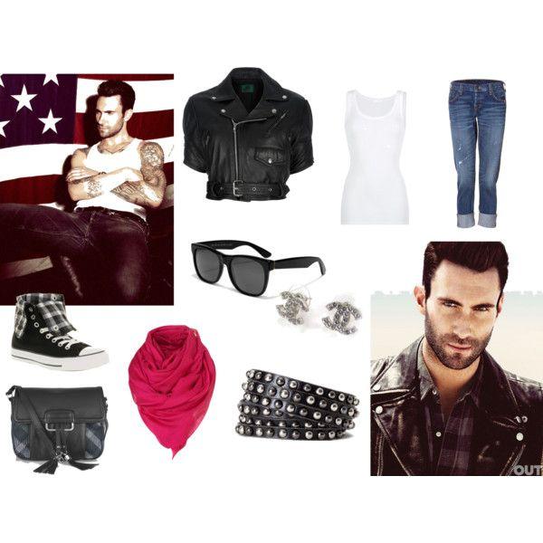 """Adam Levine Inspired"" created by #ljenious, #polyvore #fashion #style American Vintage True Religion #Converse #DAKS Linea Pelle Collection #Chanel #ADAM"