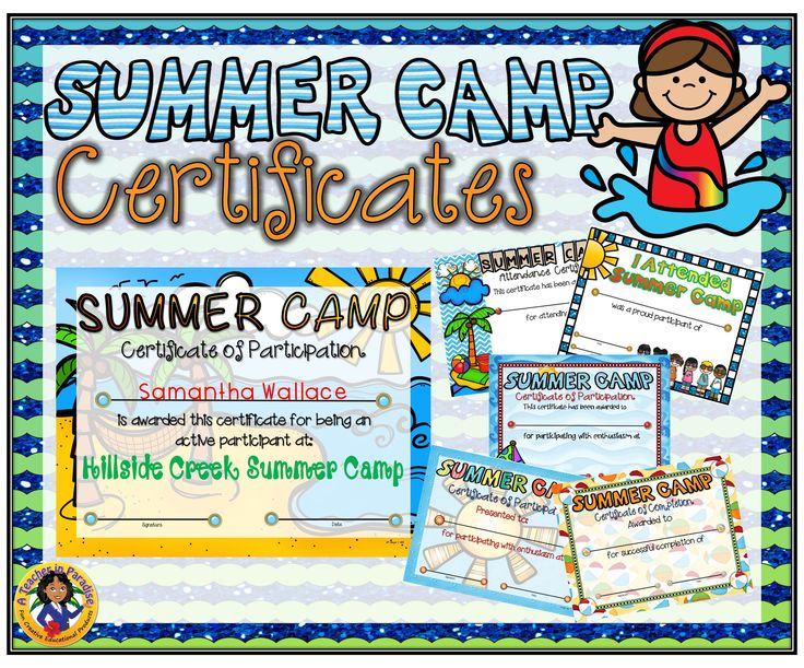 8 best camp images on pinterest camping theme girls camp awards summer camp certificates yadclub Choice Image