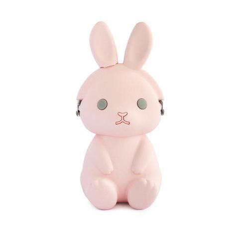Pink 3D Pochi Rabbit Silicon Coin Purse