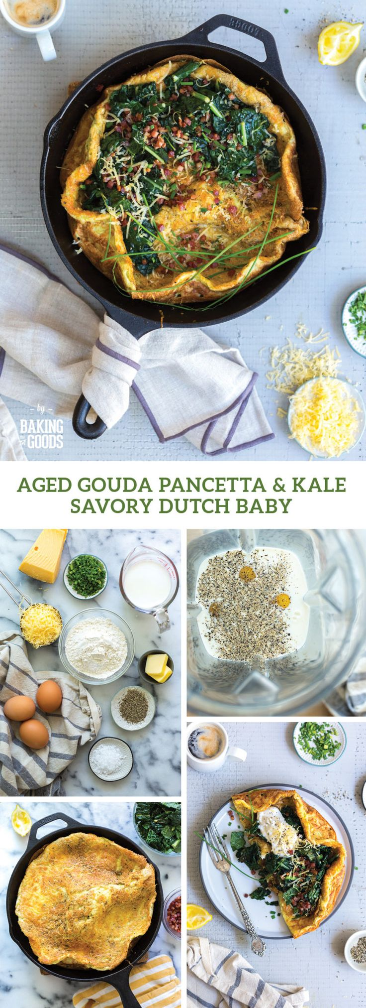 Aged Gouda Pancetta & Kale Savory Dutch Baby - Baking the ...