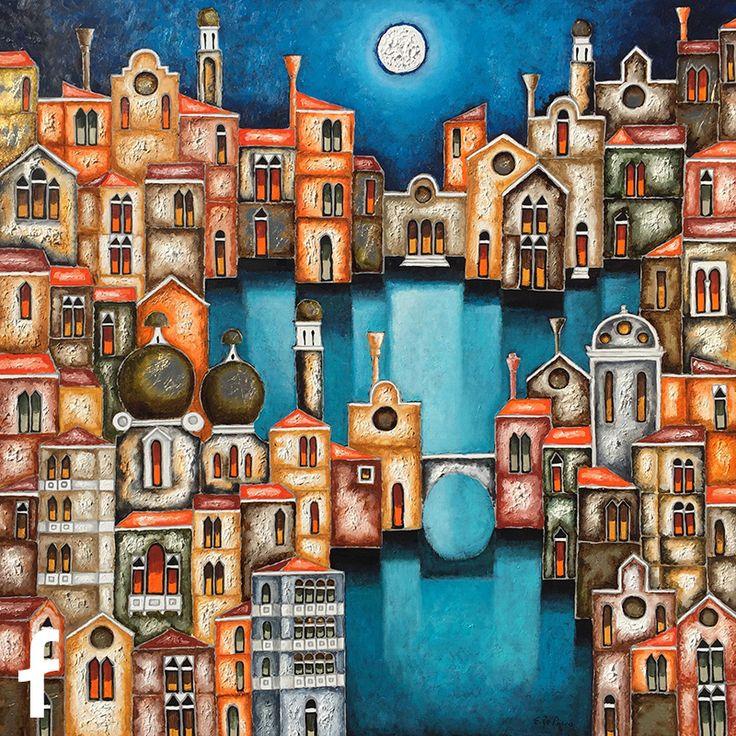 Elio De Pasco olio su tela - artista contemporaneo a trieste
