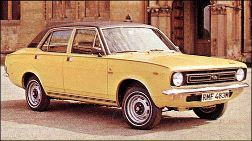 1973 Mottis Marina 1.8 TC Saloon. Don't actually remember them doing a yellow one .... Harvest gold, yes ... Yellow, no