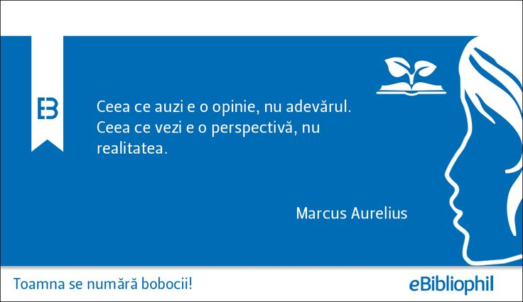 """""""Ceea ce auzi e o opinie, nu adevărul. Ceea ce vezi e o perspectivă, nu realitatea."""" Marcus Aureliu"""