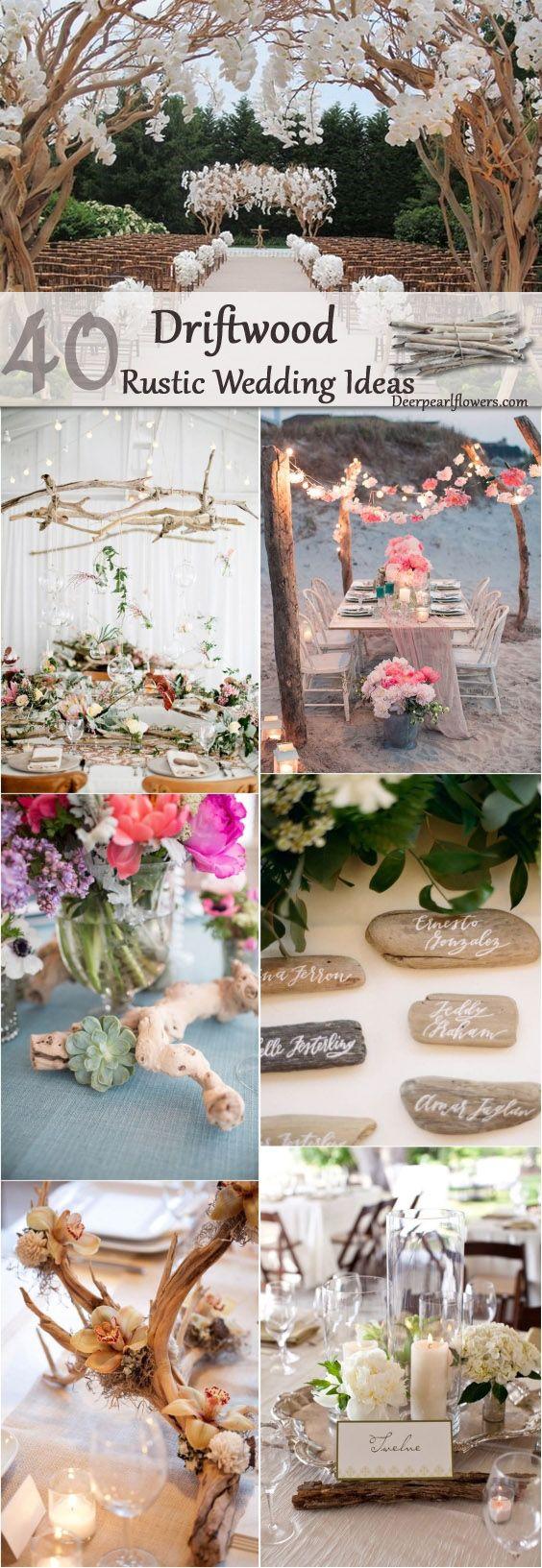 rustic driftwood wedding idea / http:// www.deerpearlflowers.com/driftwood-wedding-decor-ideas/ @theweddingomd #theweddingofmydreams