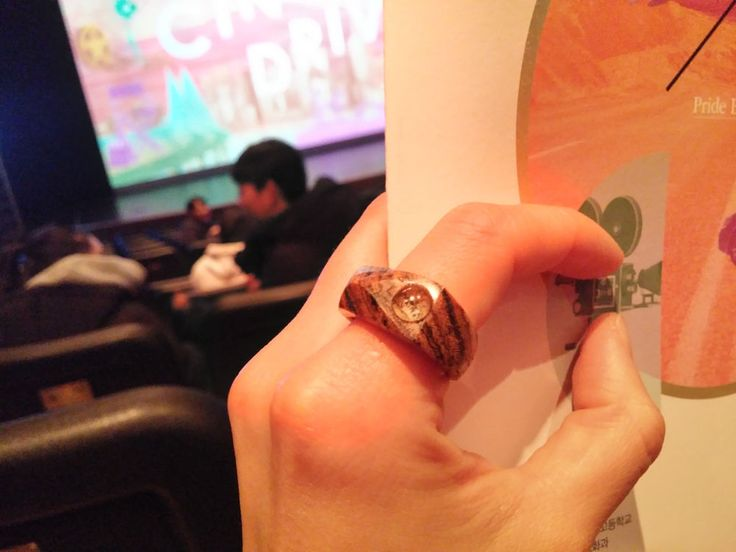 Chansthinks a tear wooden ring/bocote #Chansthinks