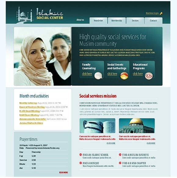 best islamic website design four