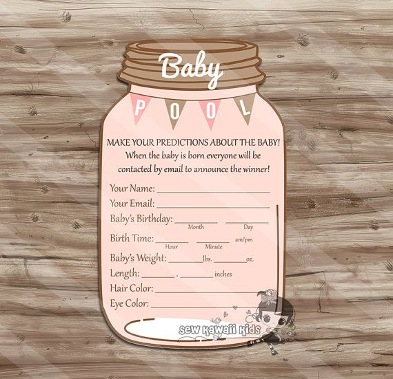 Girl Baby Shower Games Girl Baby Pool Game by KawaiiKidsDesign