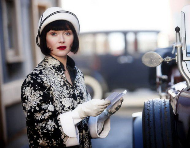 Period costume series Miss Fisher's Murder Mysteries is adapted from Kerry Greenwood's 19 mystery novels about Phryne Fisher, an Australian flapper-era Nancy Drew.