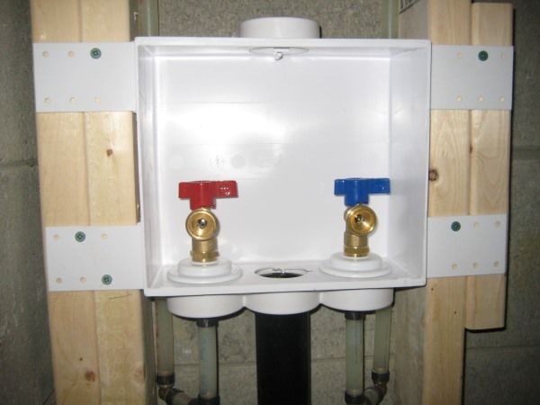 Washing Machine Drain And Shut Off Valves By Mister