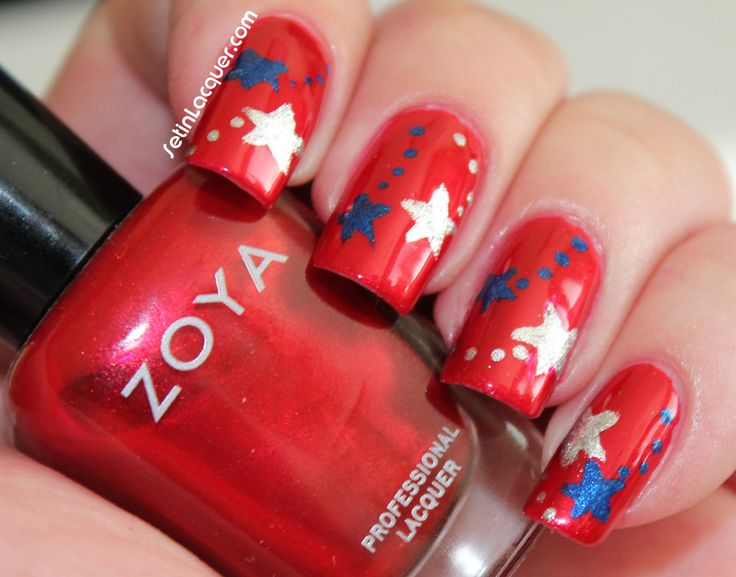 Fourth of July Nail Art using Elisa, Trixie and Song.
