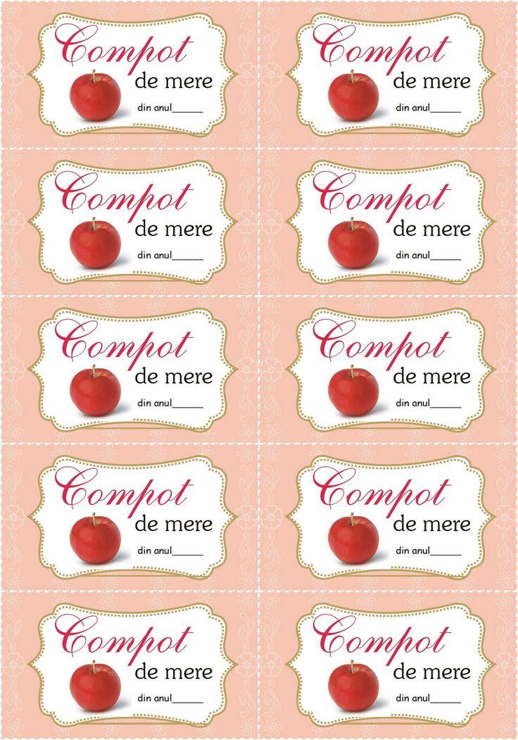 Etichete de printat pentru borcane