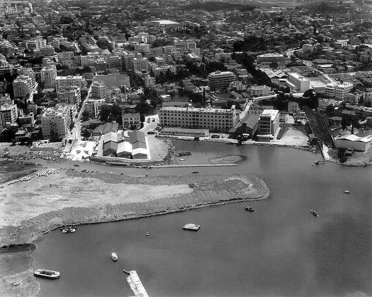 Αεροφωτογραφία της περιοχής Αλλατίνη, πιθανότατα στα μέσα της δεκαετίας 1960