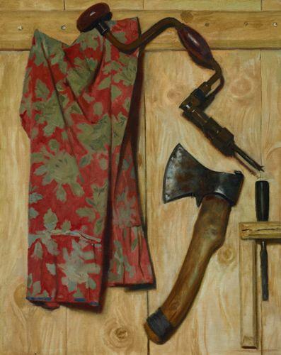Г.М. Коржев. Натюрморт с топором и коловоротом. 1979 © Третьяковская галерея